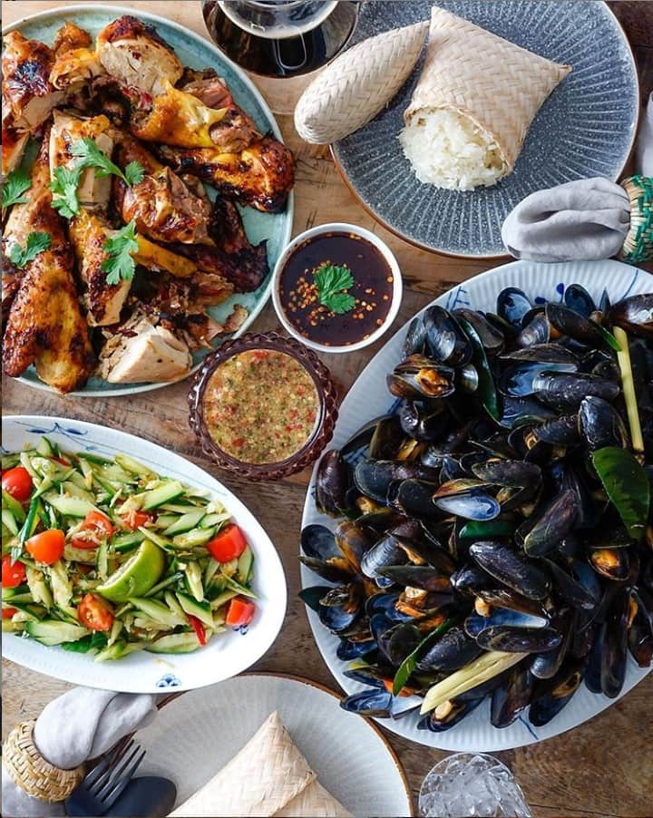 Real Thai food family feast